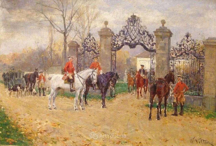 俄罗斯艺术家Wilhelm Velten(1847-1929)插图11