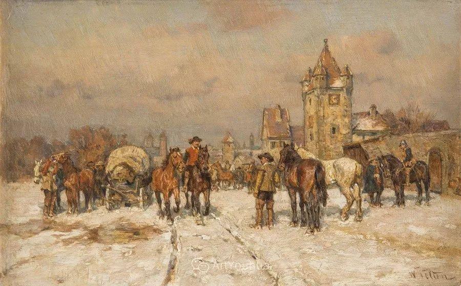俄罗斯艺术家Wilhelm Velten(1847-1929)插图61