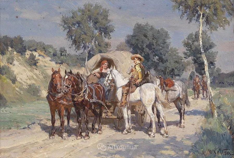 俄罗斯艺术家Wilhelm Velten(1847-1929)插图63