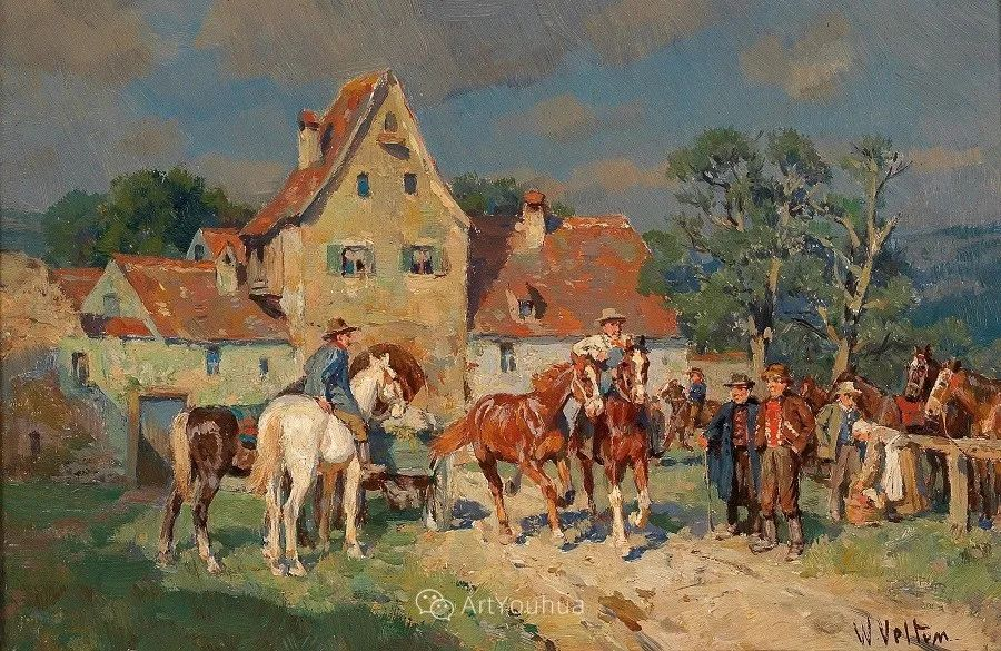 俄罗斯艺术家Wilhelm Velten(1847-1929)插图69