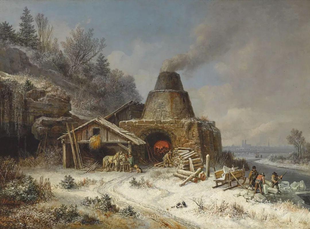 德国艺术家Heinrich Bürkel(1802-1869)插图2
