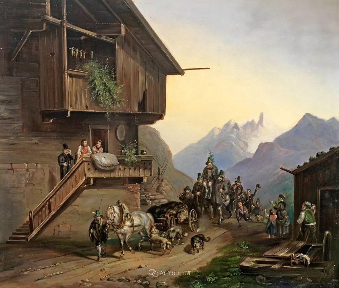 德国艺术家Heinrich Bürkel(1802-1869)插图5