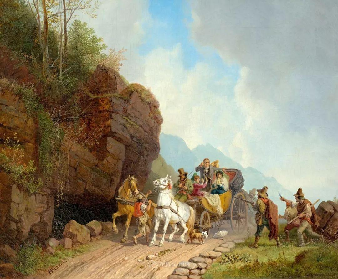 德国艺术家Heinrich Bürkel(1802-1869)插图6
