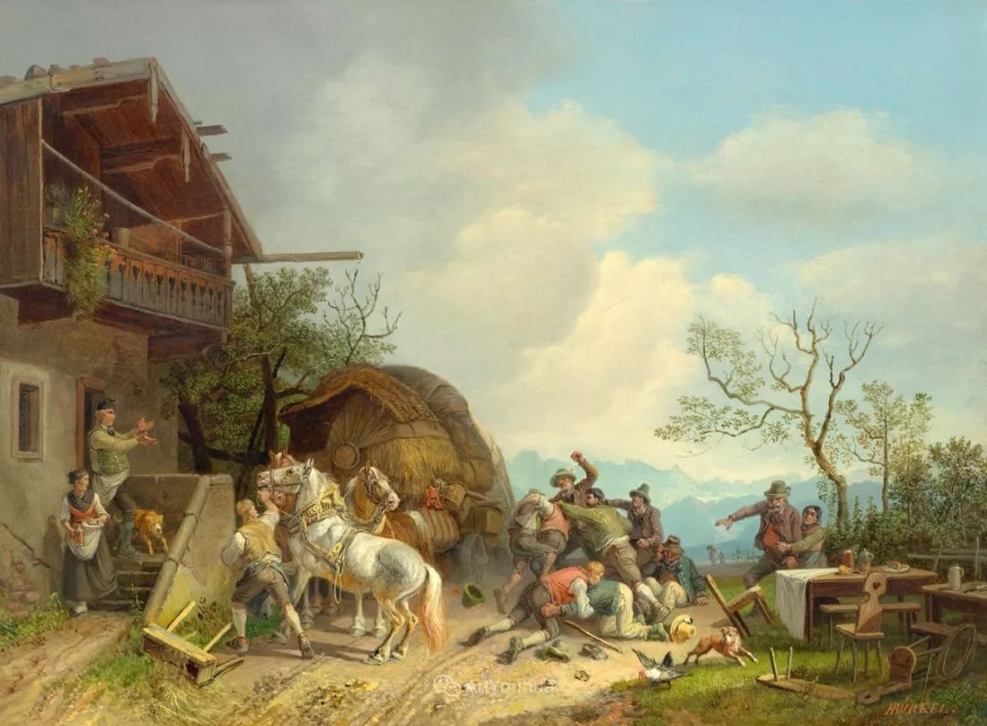 德国艺术家Heinrich Bürkel(1802-1869)插图7