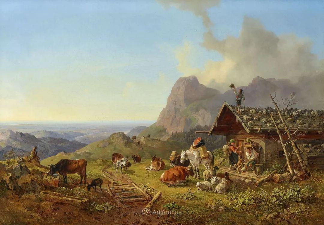 德国艺术家Heinrich Bürkel(1802-1869)插图8