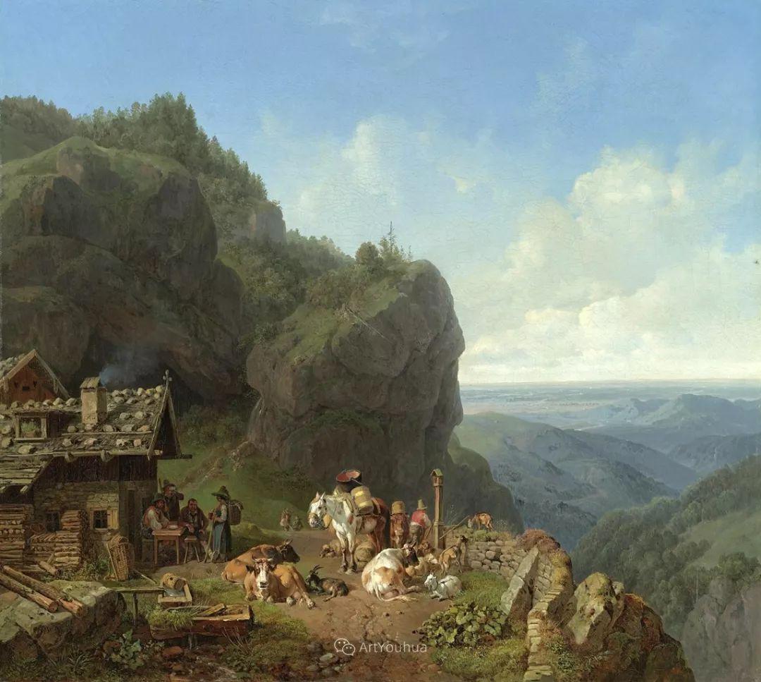 德国艺术家Heinrich Bürkel(1802-1869)插图9