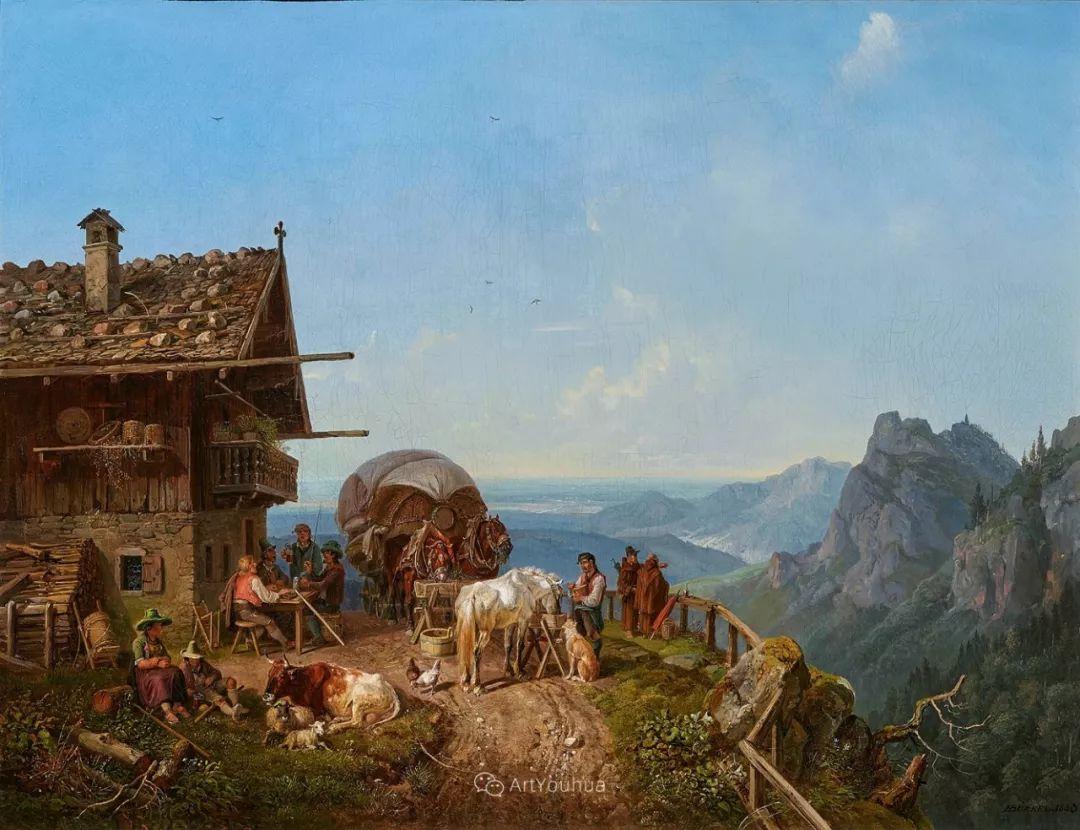 德国艺术家Heinrich Bürkel(1802-1869)插图10