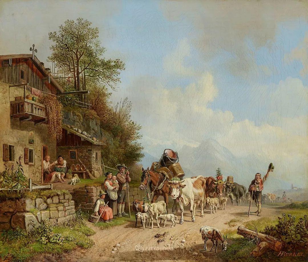 德国艺术家Heinrich Bürkel(1802-1869)插图11