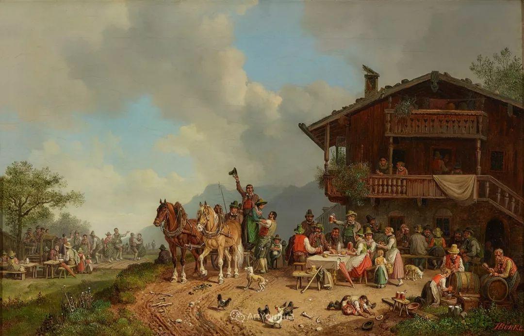 德国艺术家Heinrich Bürkel(1802-1869)插图12