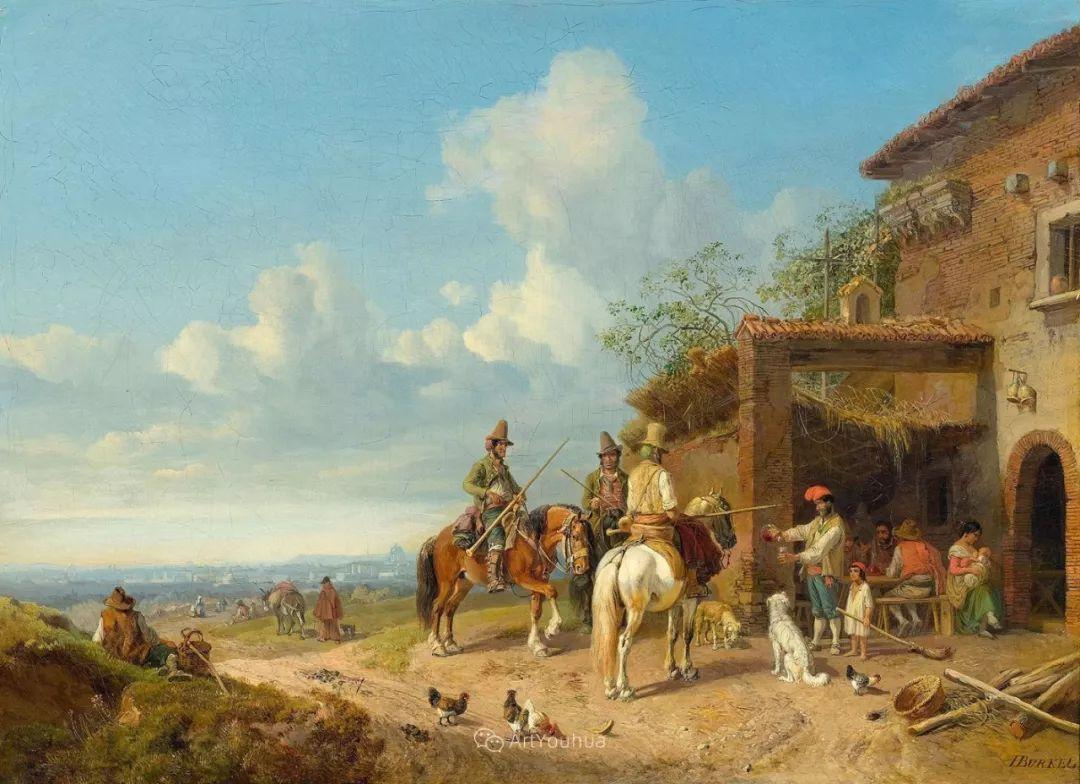 德国艺术家Heinrich Bürkel(1802-1869)插图14