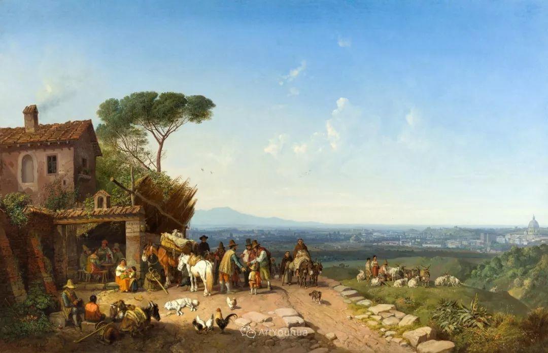德国艺术家Heinrich Bürkel(1802-1869)插图16