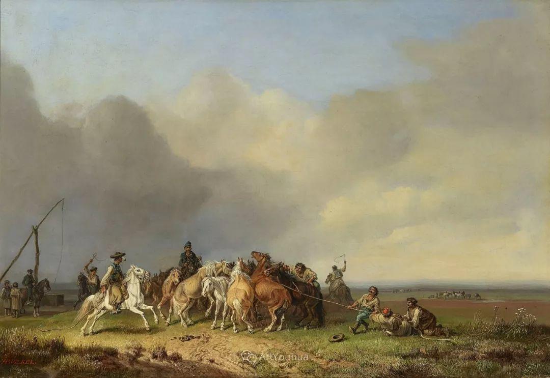 德国艺术家Heinrich Bürkel(1802-1869)插图17