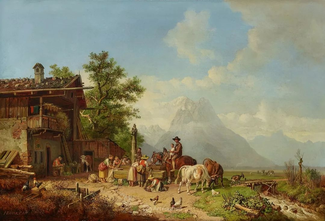 德国艺术家Heinrich Bürkel(1802-1869)插图18