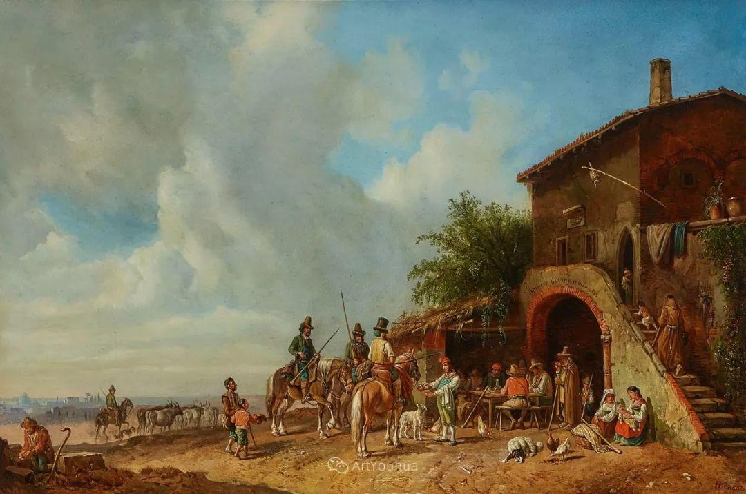 德国艺术家Heinrich Bürkel(1802-1869)插图19
