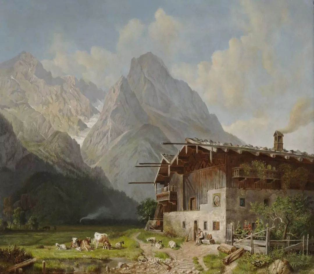 德国艺术家Heinrich Bürkel(1802-1869)插图20