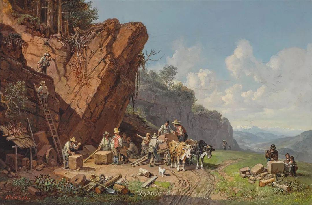 德国艺术家Heinrich Bürkel(1802-1869)插图21
