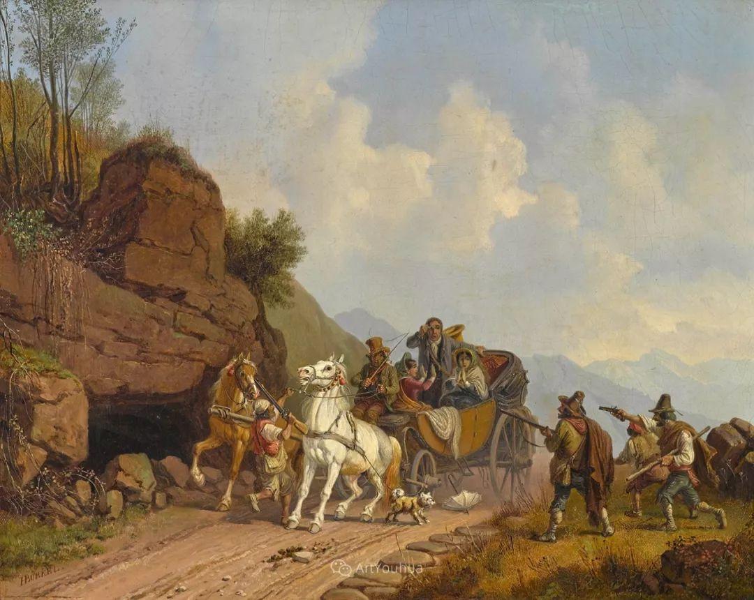 德国艺术家Heinrich Bürkel(1802-1869)插图22