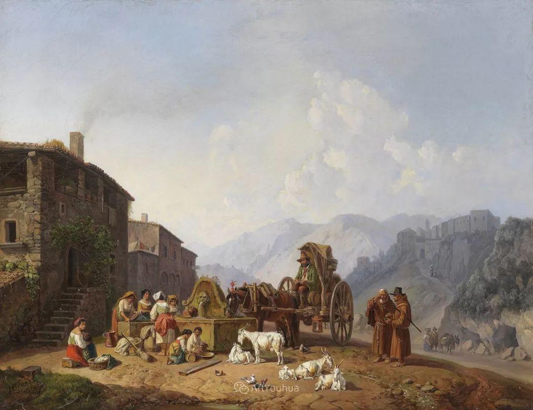 德国艺术家Heinrich Bürkel(1802-1869)插图23