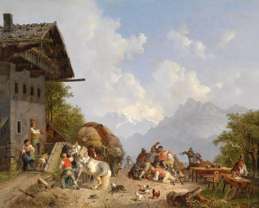 德国艺术家Heinrich Bürkel(1802-1869)插图24