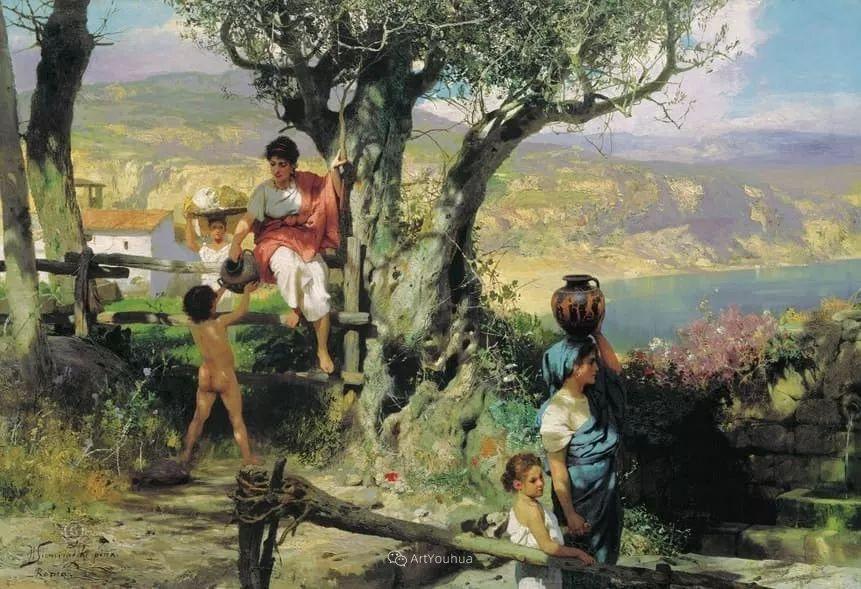 古代的场景画,波兰艺术家亨利克·西米拉兹基插图