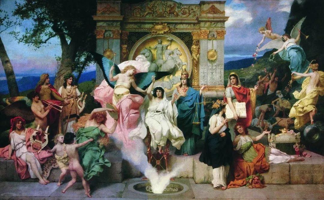 古代的场景画,波兰艺术家亨利克·西米拉兹基插图1