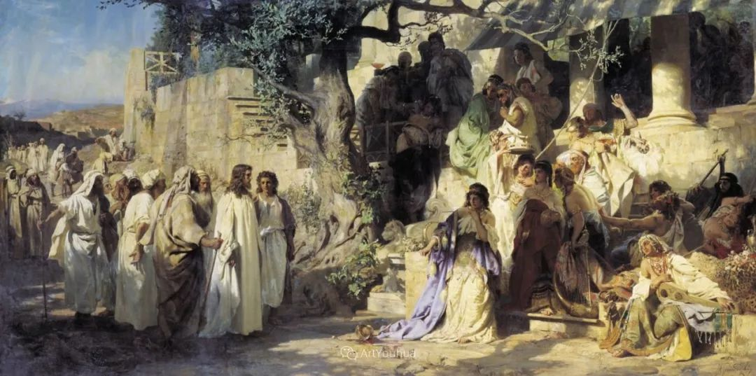 古代的场景画,波兰艺术家亨利克·西米拉兹基插图2