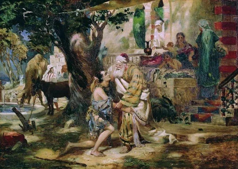 古代的场景画,波兰艺术家亨利克·西米拉兹基插图3