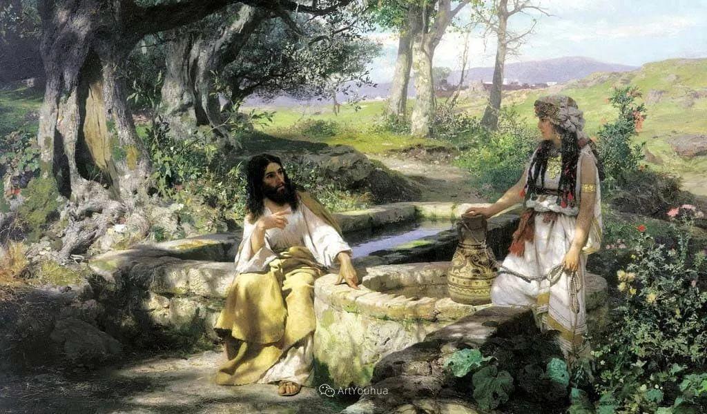 古代的场景画,波兰艺术家亨利克·西米拉兹基插图5
