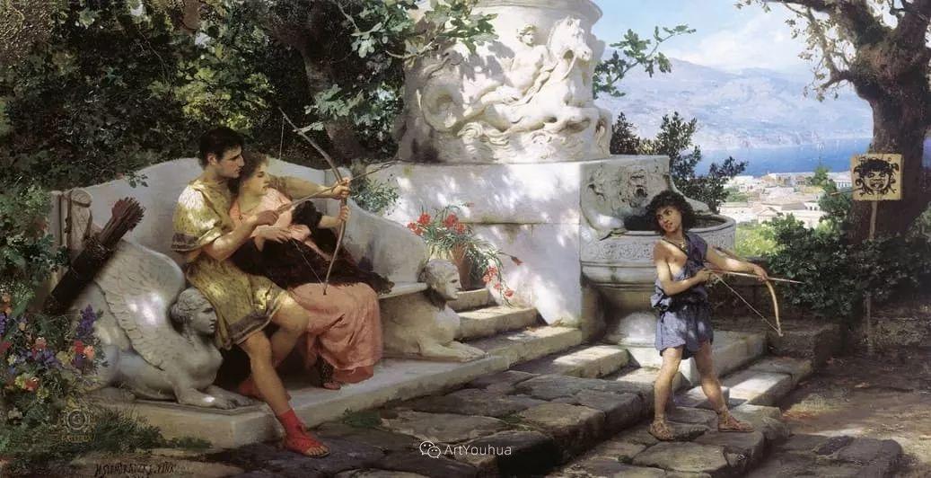 古代的场景画,波兰艺术家亨利克·西米拉兹基插图6