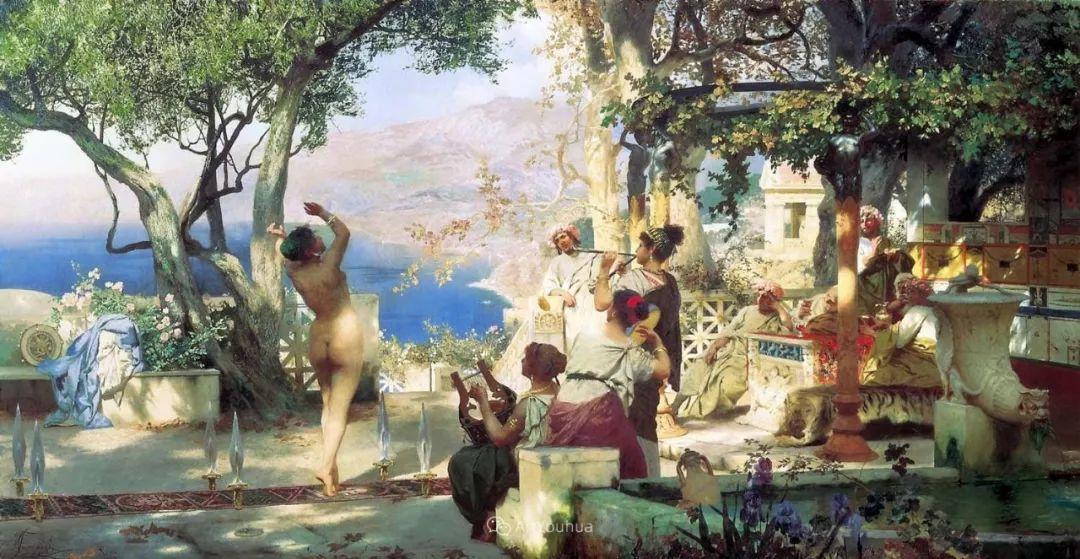 古代的场景画,波兰艺术家亨利克·西米拉兹基插图7