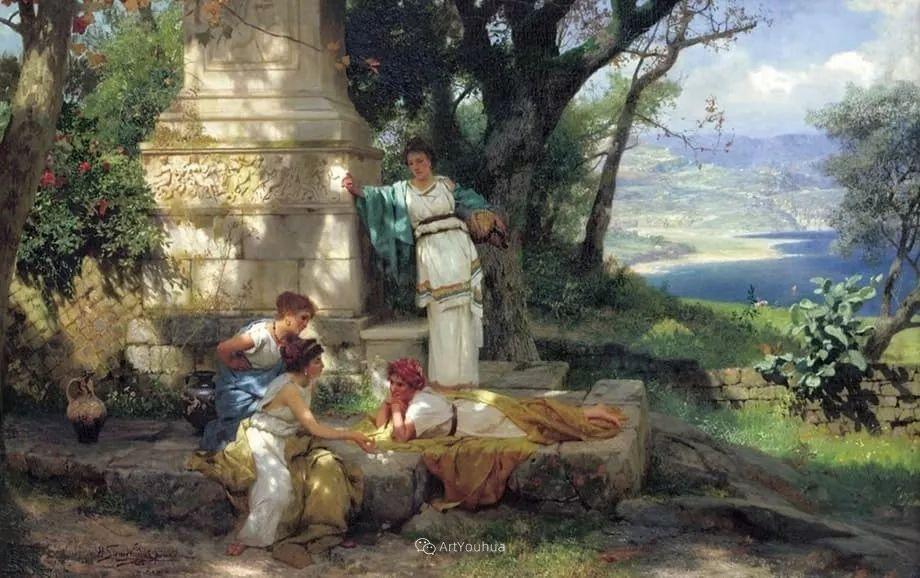 古代的场景画,波兰艺术家亨利克·西米拉兹基插图8