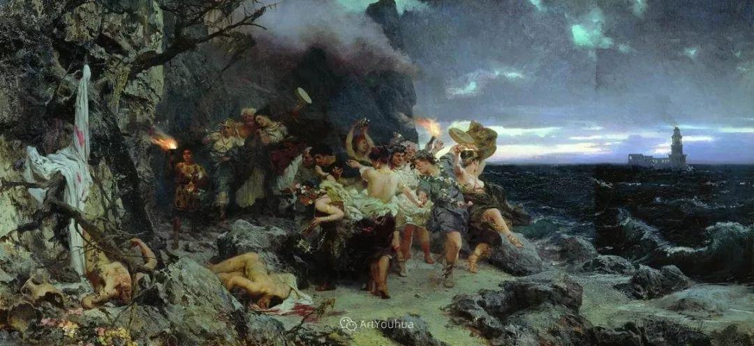古代的场景画,波兰艺术家亨利克·西米拉兹基插图9