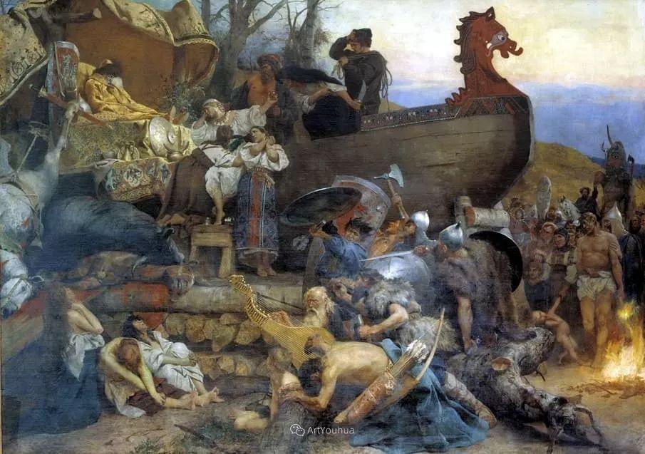 古代的场景画,波兰艺术家亨利克·西米拉兹基插图10
