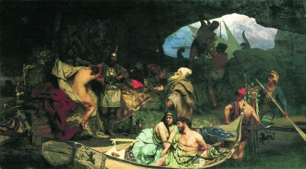 古代的场景画,波兰艺术家亨利克·西米拉兹基插图11
