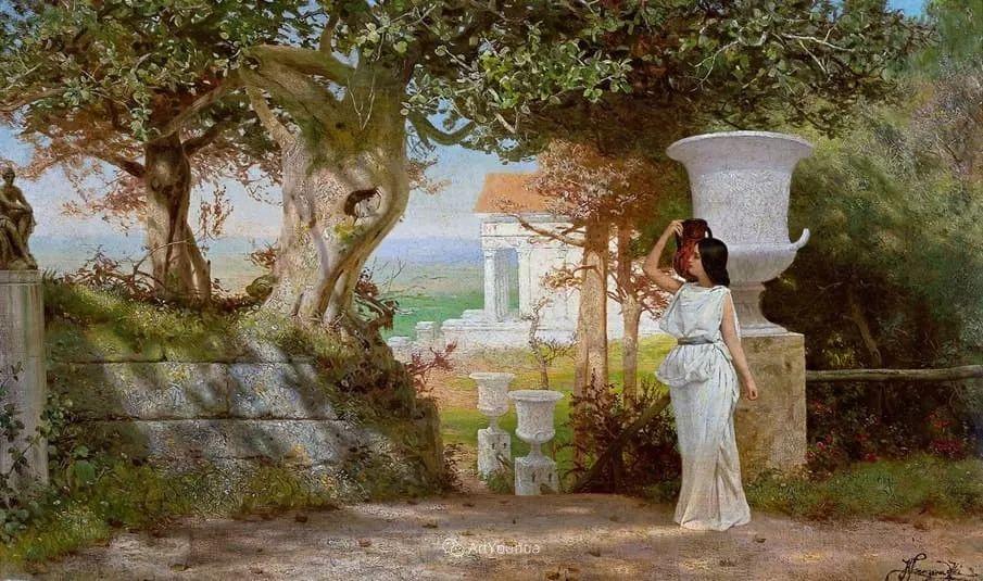 古代的场景画,波兰艺术家亨利克·西米拉兹基插图12