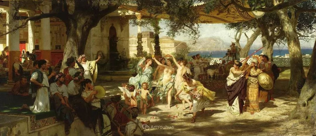 古代的场景画,波兰艺术家亨利克·西米拉兹基插图14