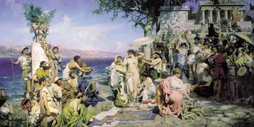 古代的场景画,波兰艺术家亨利克·西米拉兹基插图15