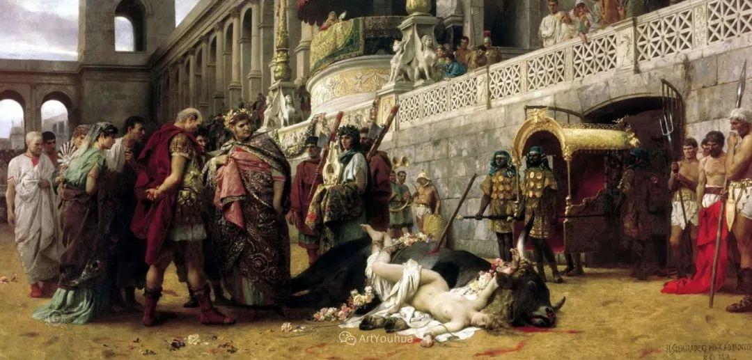 古代的场景画,波兰艺术家亨利克·西米拉兹基插图16