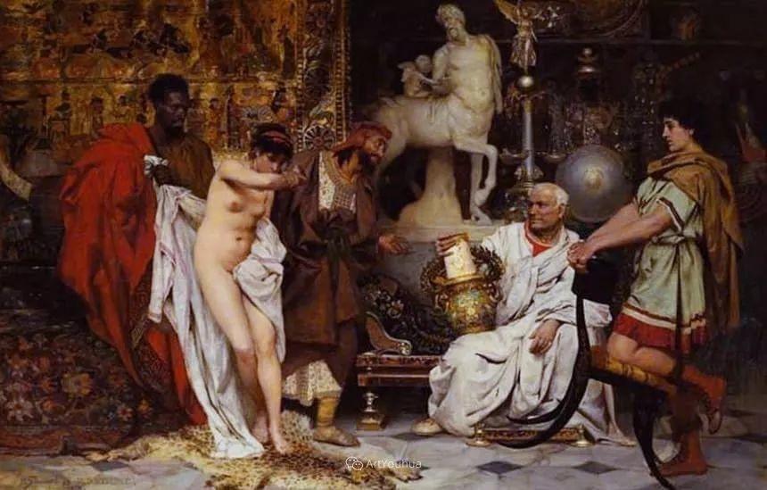 古代的场景画,波兰艺术家亨利克·西米拉兹基插图19