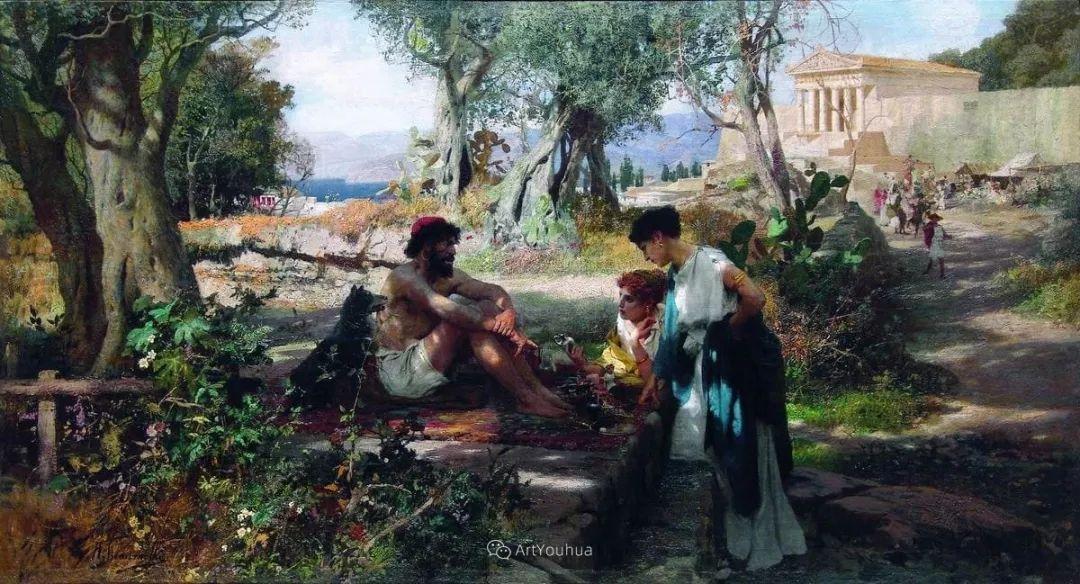 古代的场景画,波兰艺术家亨利克·西米拉兹基插图21