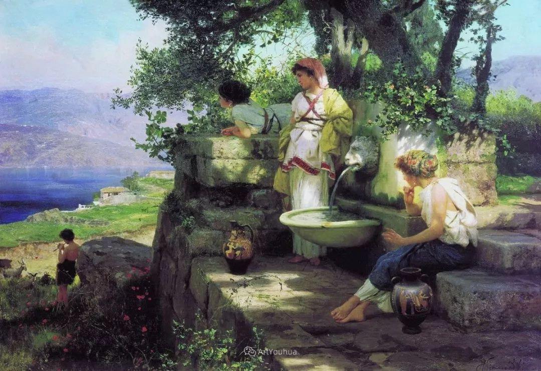 古代的场景画,波兰艺术家亨利克·西米拉兹基插图24