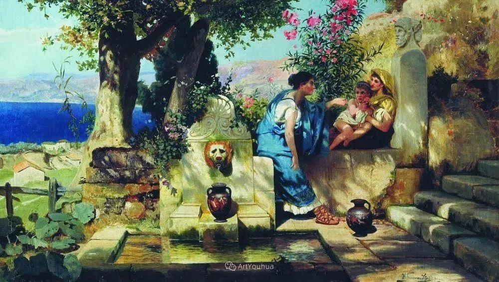 古代的场景画,波兰艺术家亨利克·西米拉兹基插图25