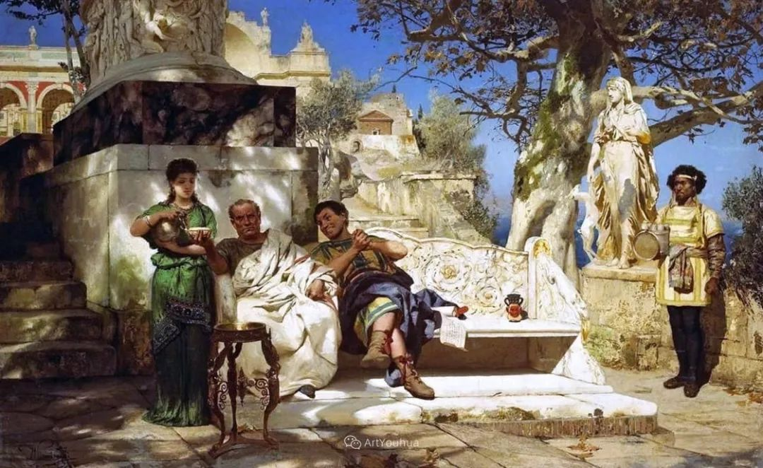 古代的场景画,波兰艺术家亨利克·西米拉兹基插图28