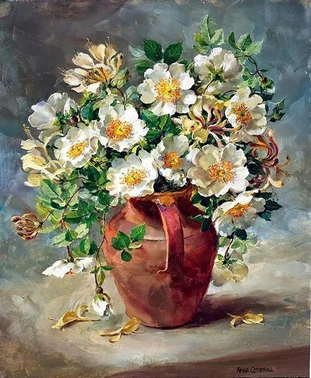 静物花卉,英国画家安妮·科特里尔插图1