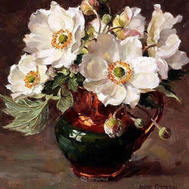静物花卉,英国画家安妮·科特里尔插图17