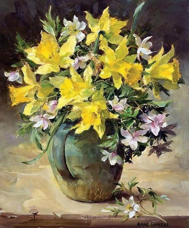 静物花卉,英国画家安妮·科特里尔插图19