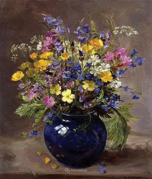静物花卉,英国画家安妮·科特里尔插图21