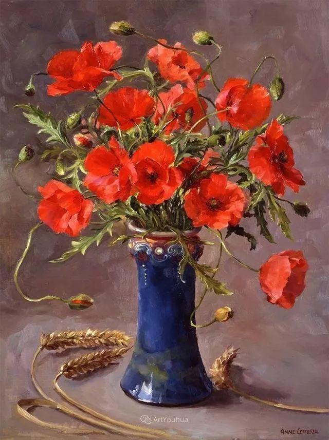 静物花卉,英国画家安妮·科特里尔插图25