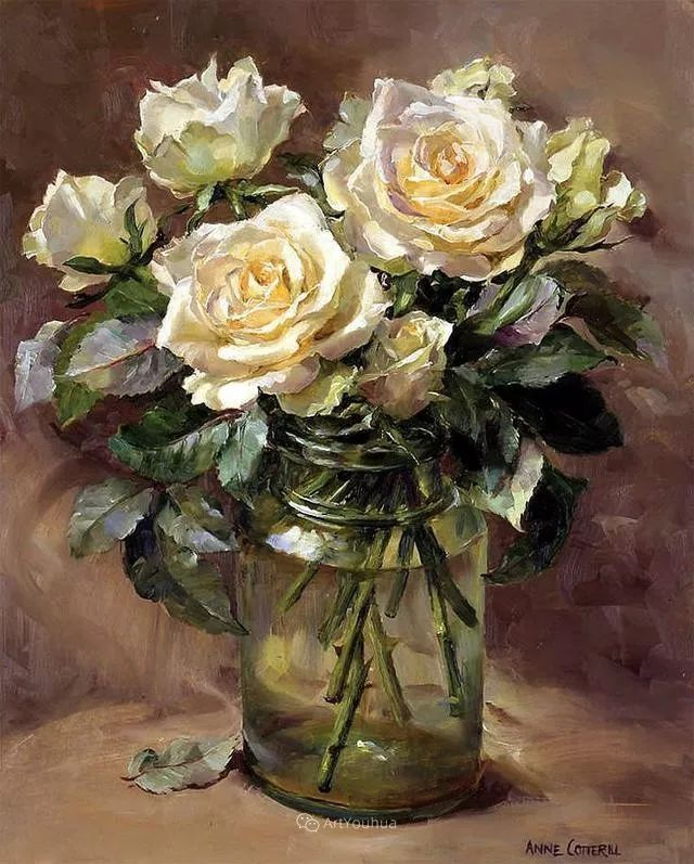 静物花卉,英国画家安妮·科特里尔插图27