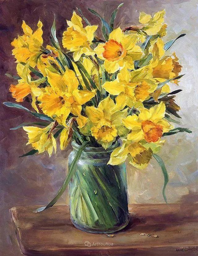 静物花卉,英国画家安妮·科特里尔插图29